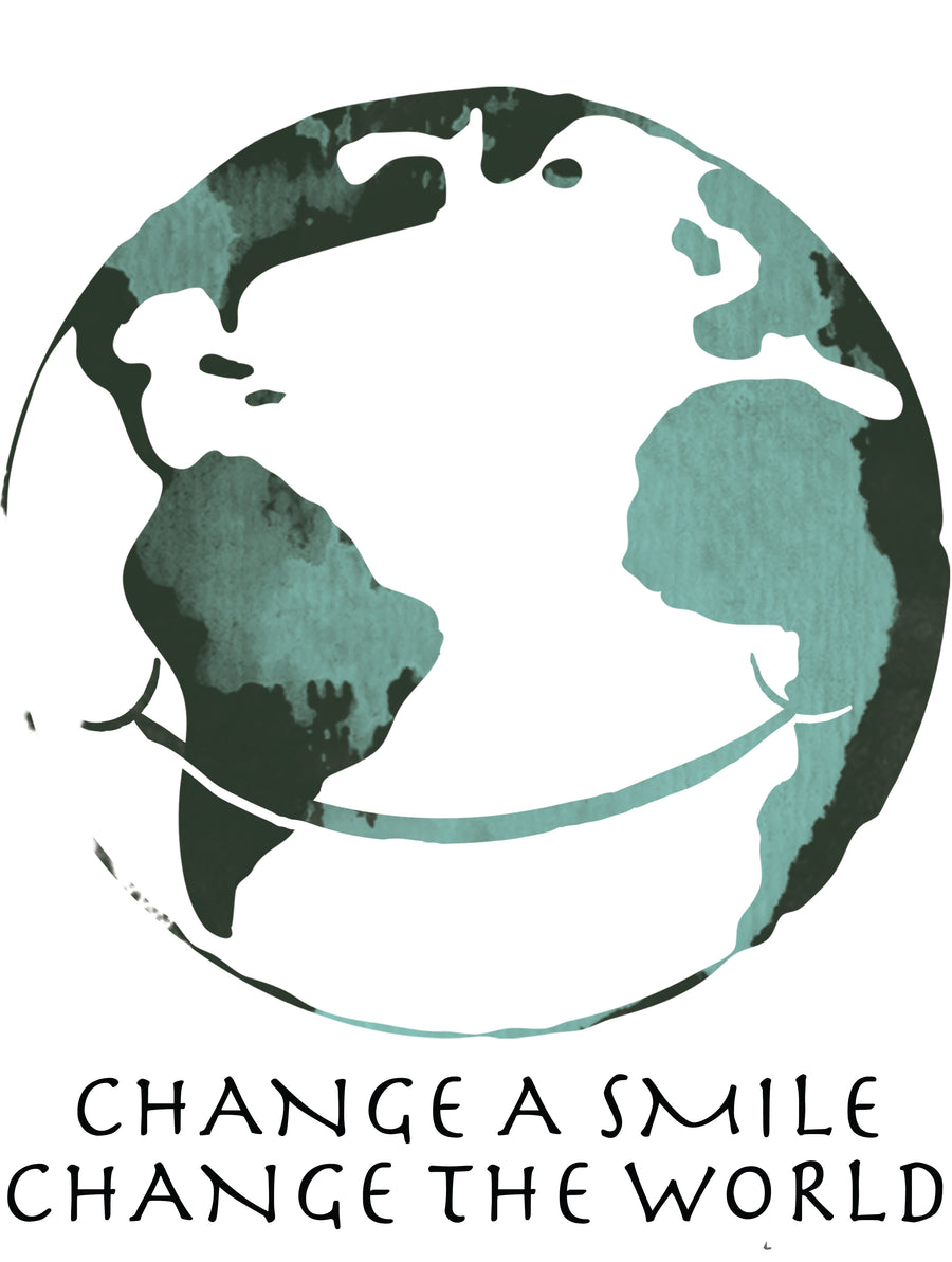 Change A Smile Change The World Girls Premium Short Sleeve Crew