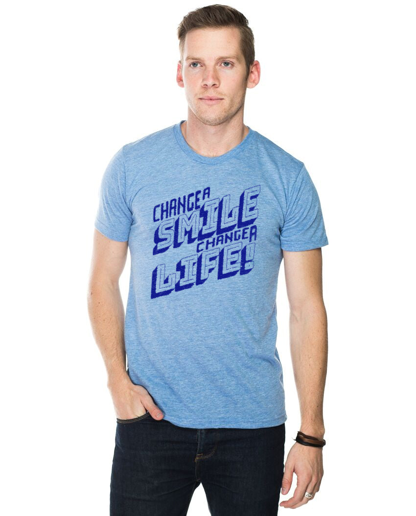 Change A Smile Change A Life Men's Premium Triblend Short Sleeve Tee