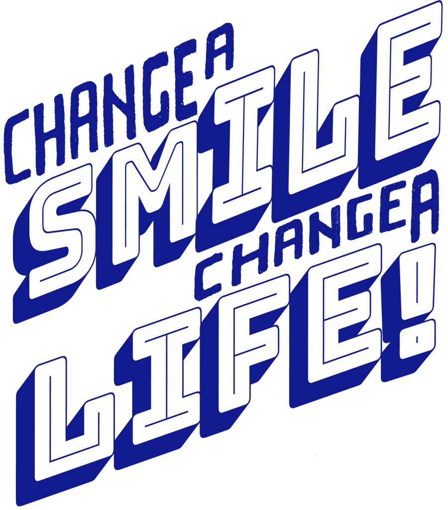 Change A Smile Change A Life Women's Triblend Slim Fit Short Sleeve Tee