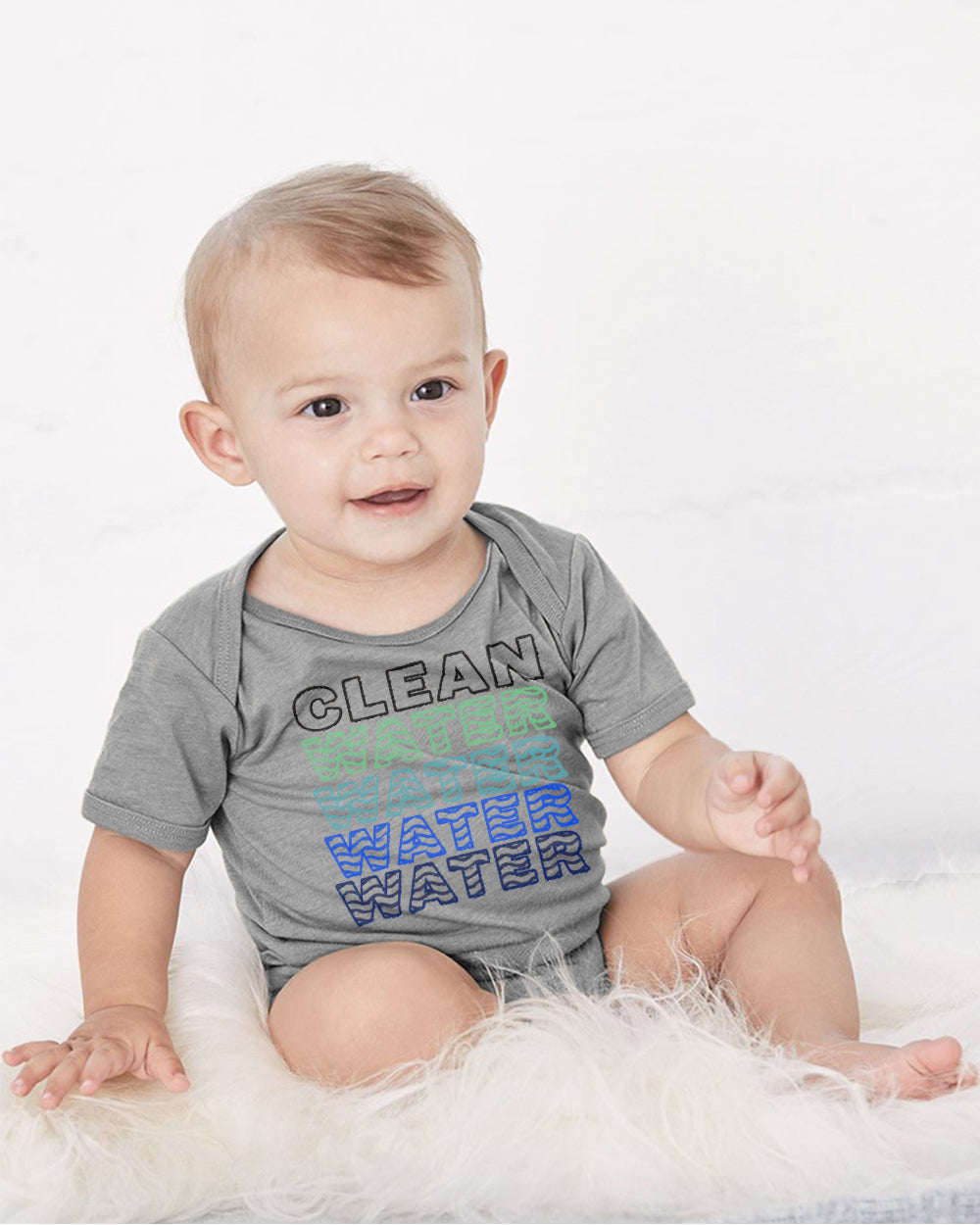 Clean Water Water Water Baby Cozy Graphic Tee Onesie