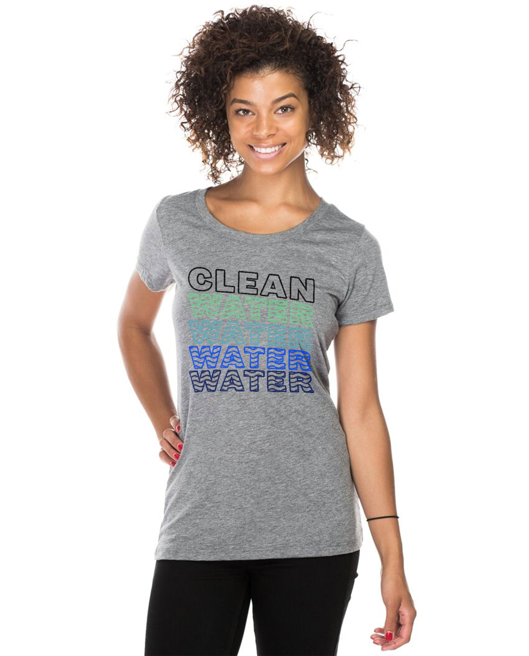 Clean Water Water Water Women's Triblend Slim Fit Short Sleeve Tee