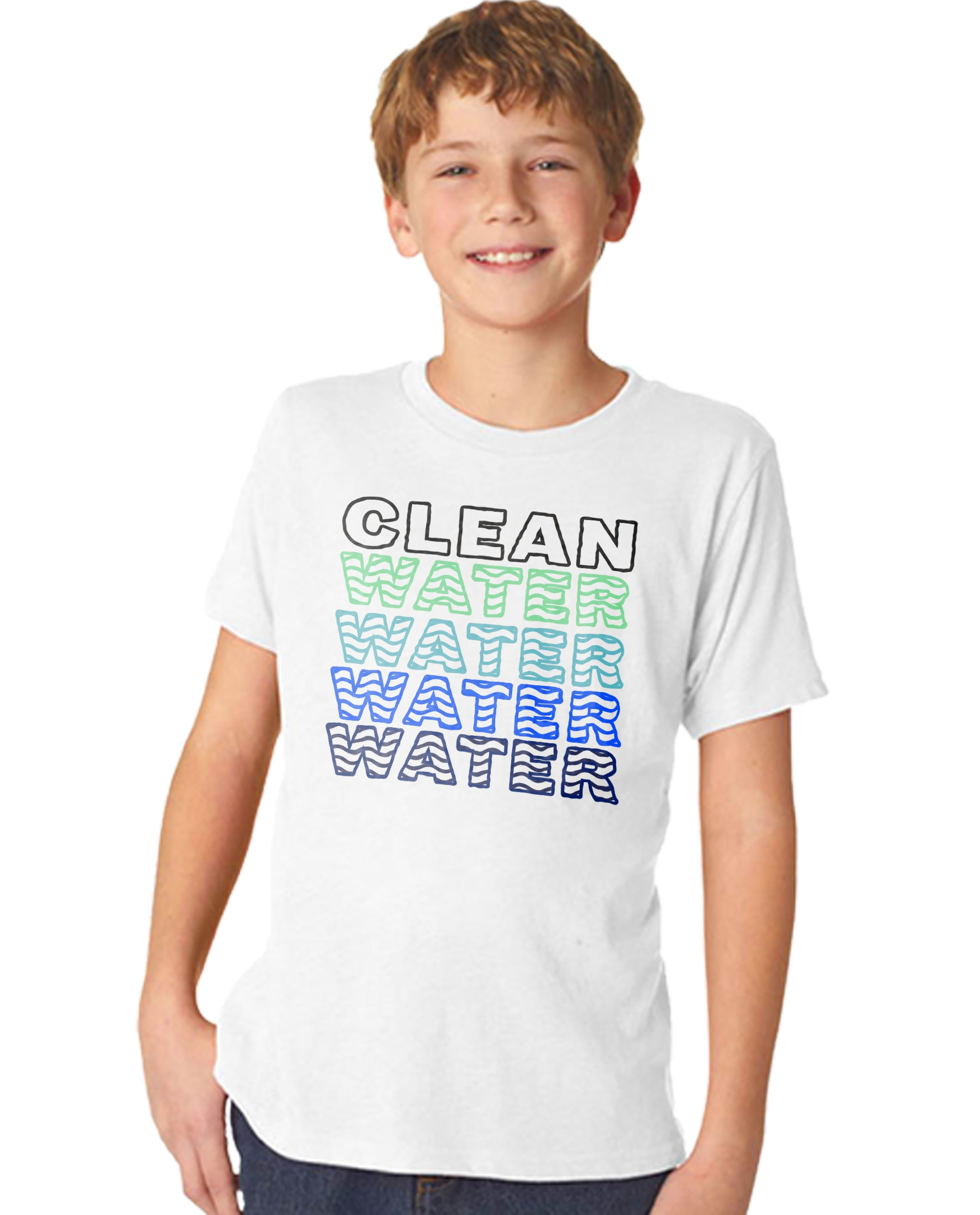 Clean Water Water Water Boy's Premium Short Sleeve Crew