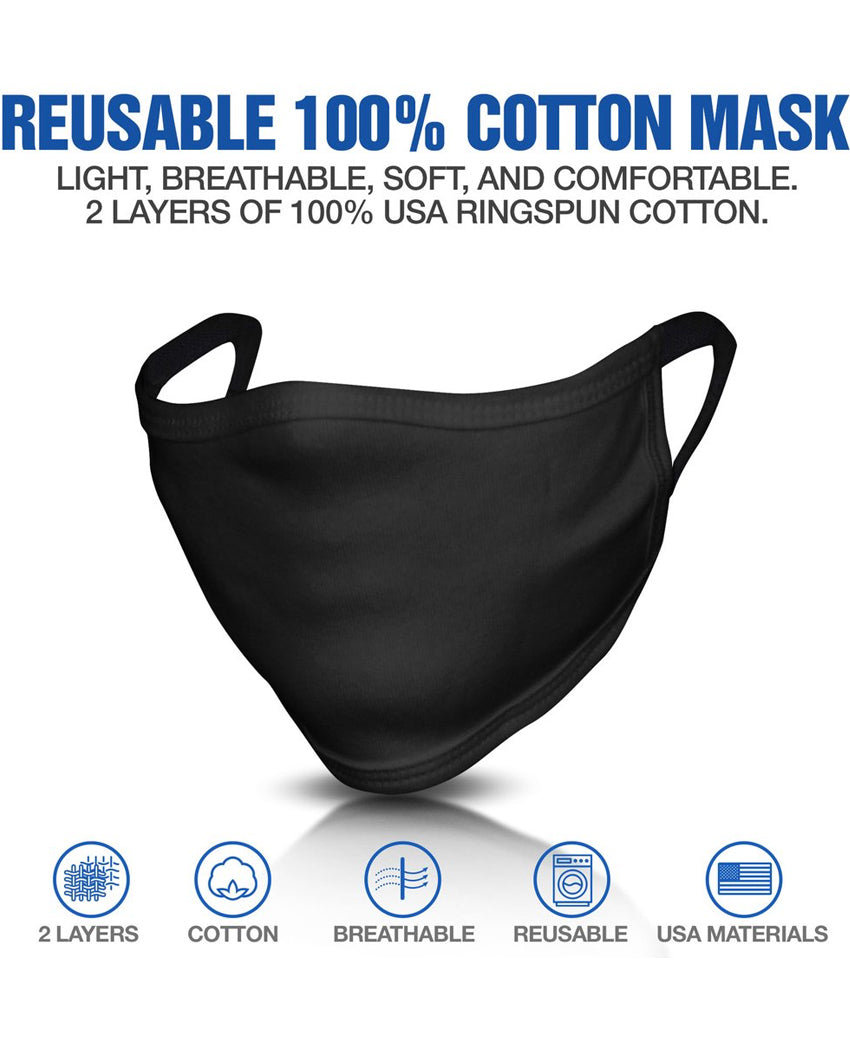Made In The USA 2 Layer Cotton Reusable Face Mask With Graphics