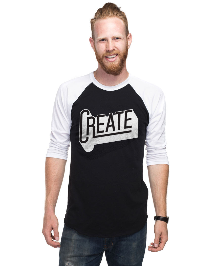 Create Mens Baseball Tee