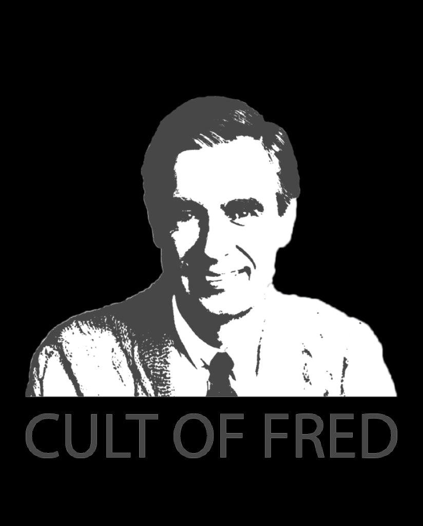 CULT OF FRED Mens White Premium Fitted Tee