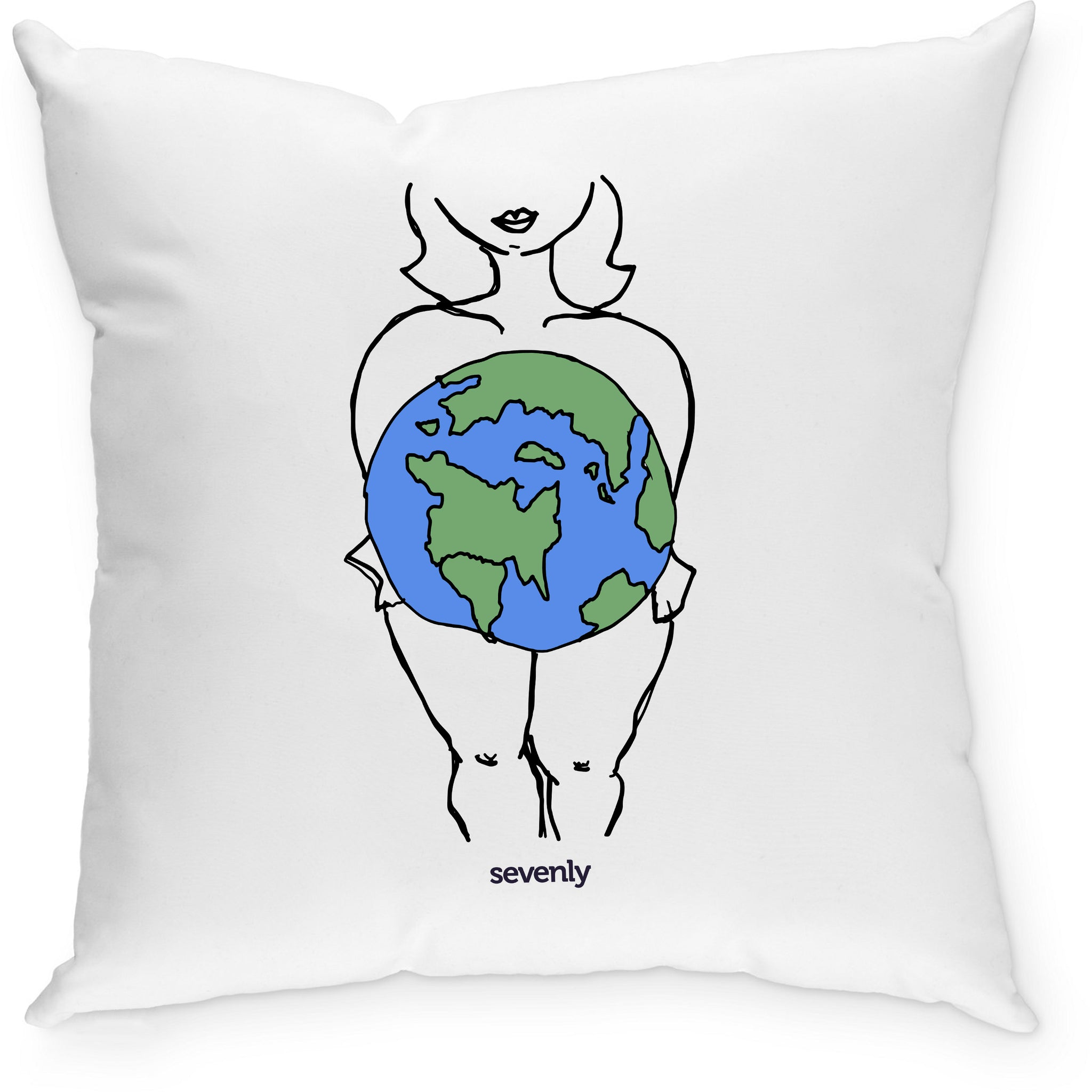 SEVENLY HOME GOODS - COTTON CANVAS DOWN THROW PILLOW - CURVY WORLD