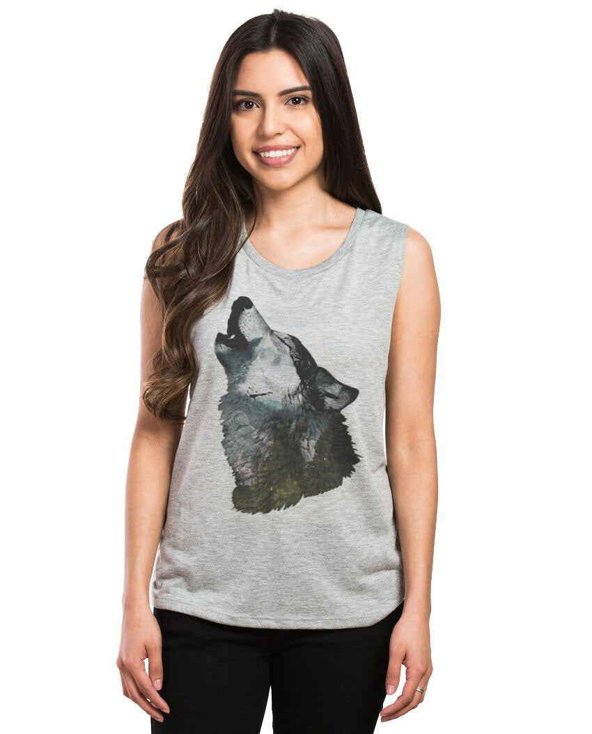 Howling Wolf Muscle Tank