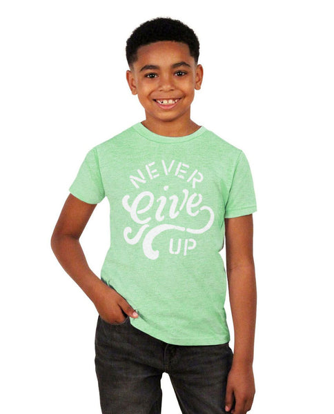 Never Give Up Youth Short Sleeve Tee
