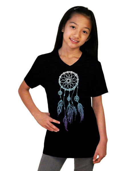 Dreamcatcher Youth Jersey Short Sleeve V Neck Tee