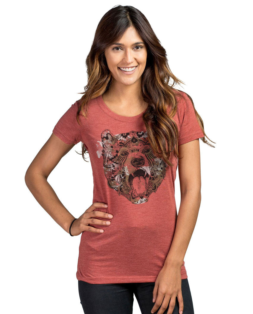 Strong Bear Triblend Short Sleeve Tee