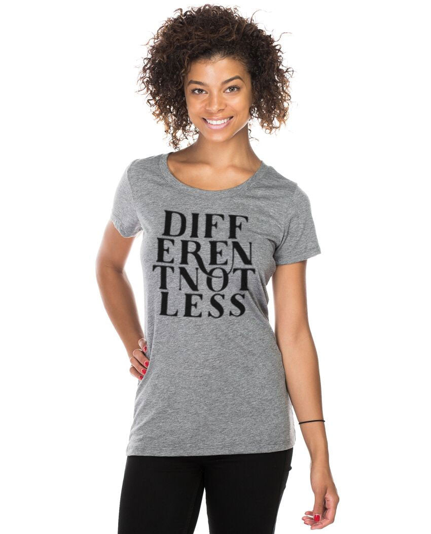 Different Not Less Triblend Short Sleeve Tee