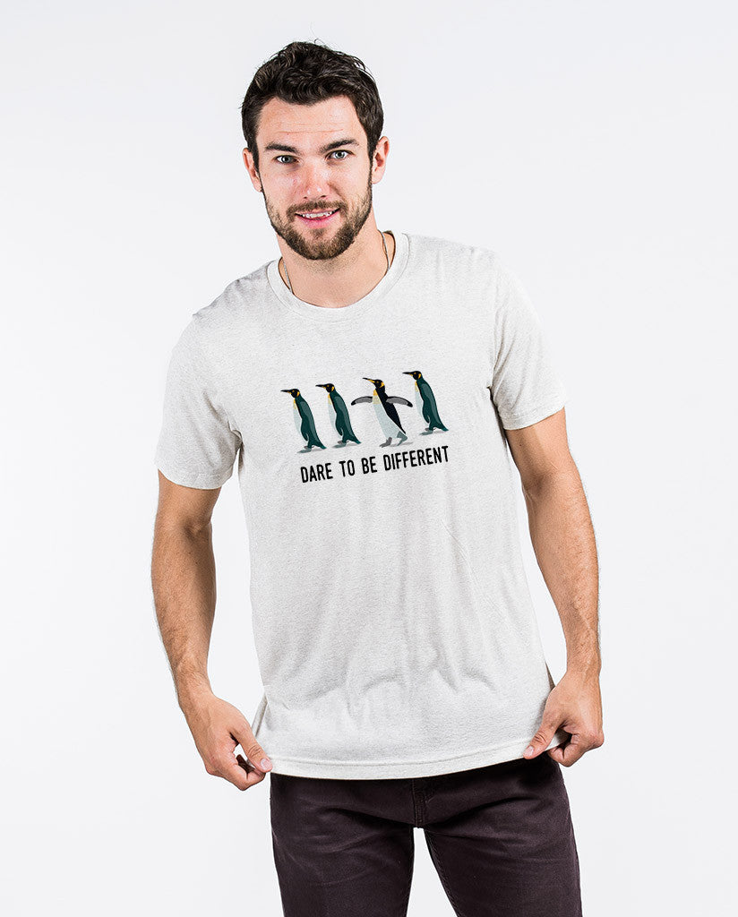 Dare To Be Different - Men's White Fleck Premium Triblend Tee