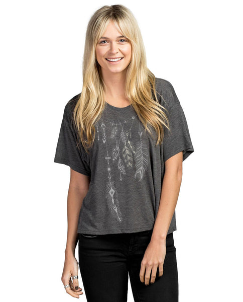 Freedom Feather Slouchy Tee