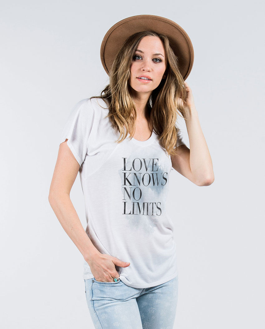 Love Knows No Limits Flowy Raglan