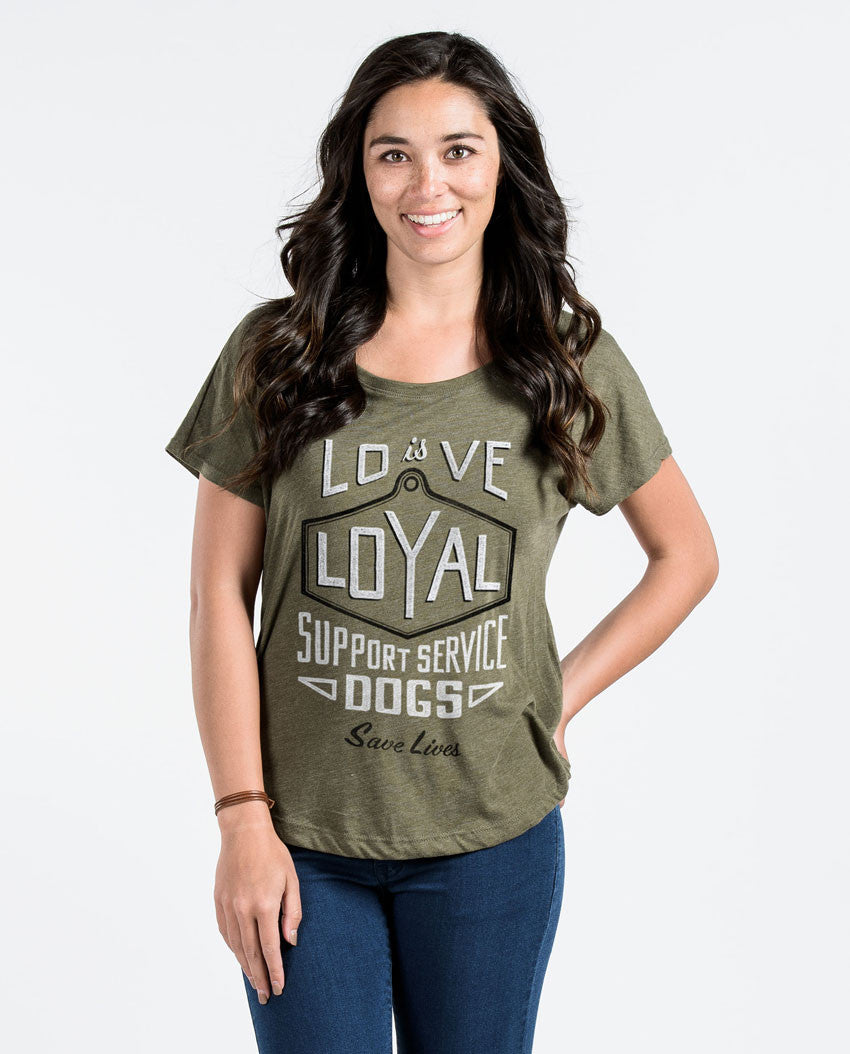 Love Is Loyal Women's Flowy Dolman