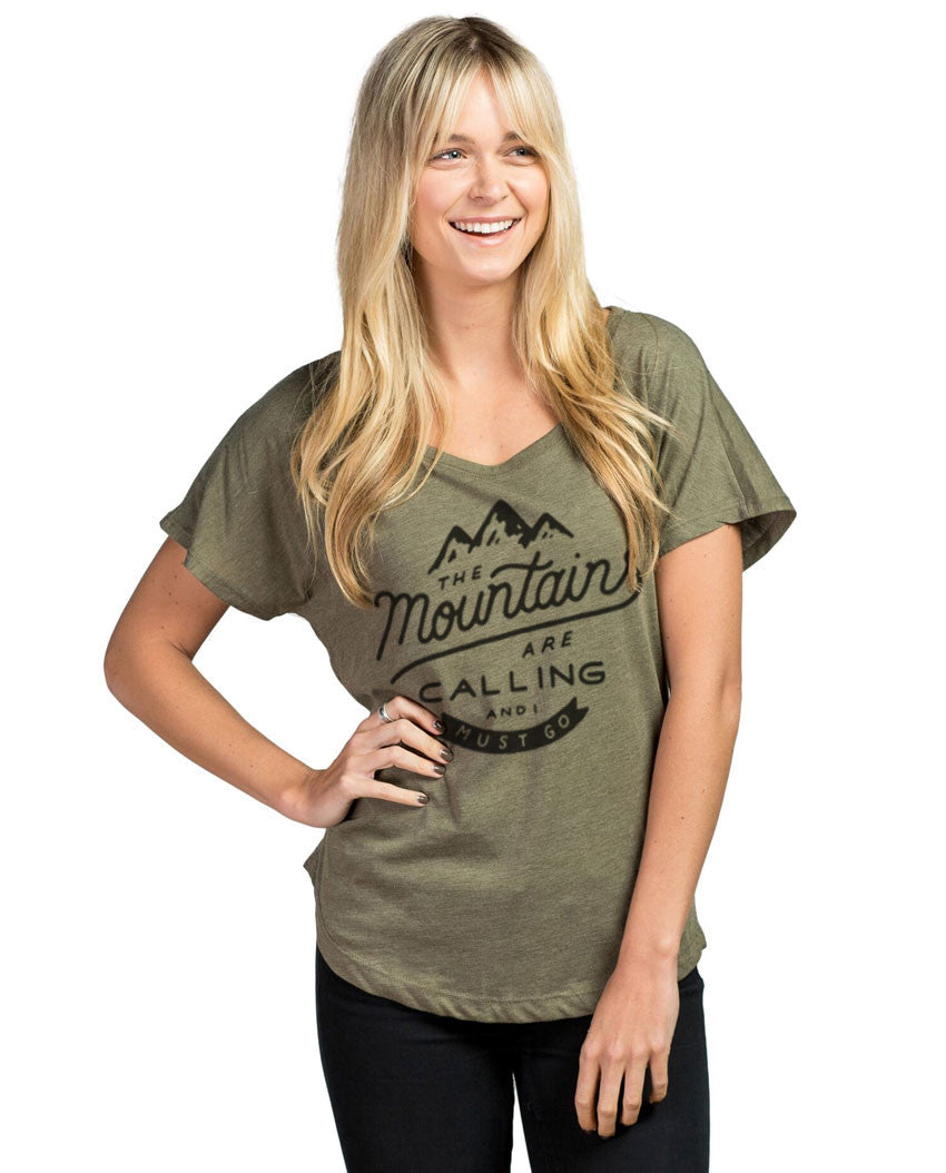 The Mountains Are Calling Women's Flowy Dolman