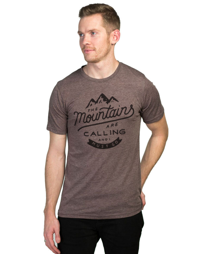 The Mountains Are Calling Tee Espresso