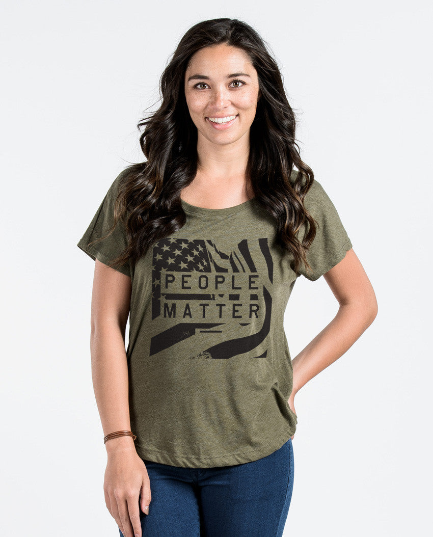 People Matter Flag Flowy Dolman