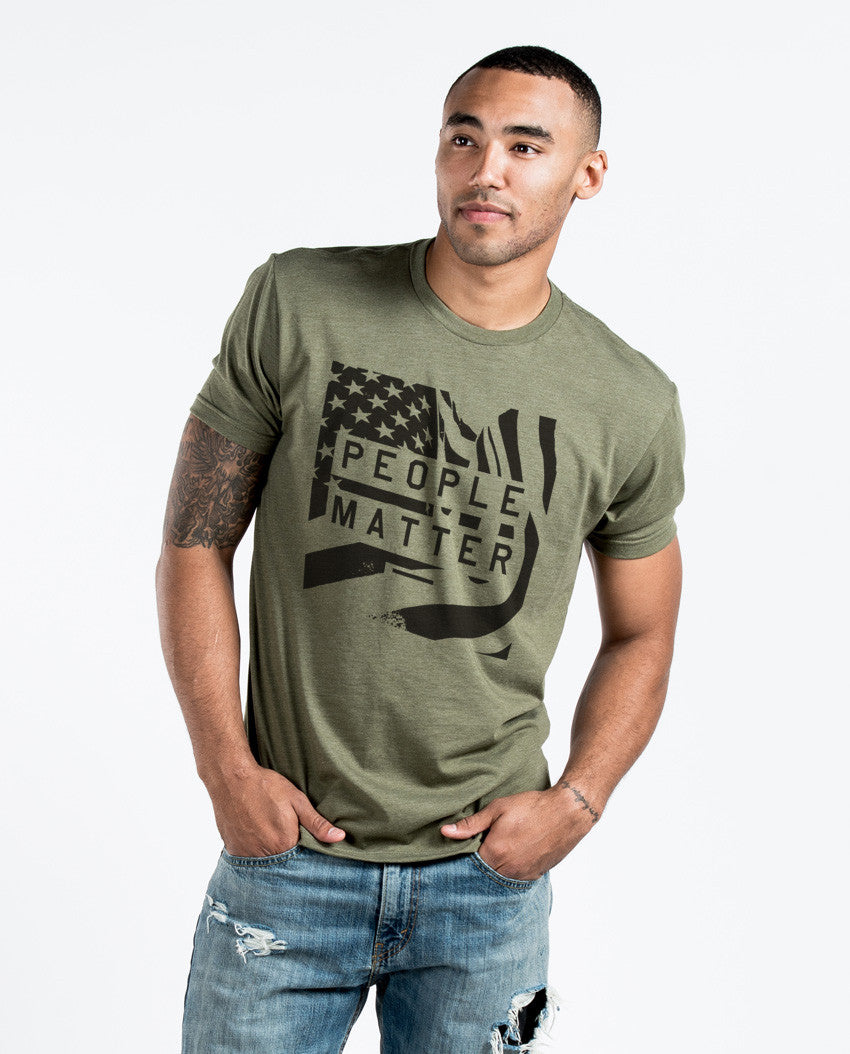 People Matter Flag Premium Fitted Tee