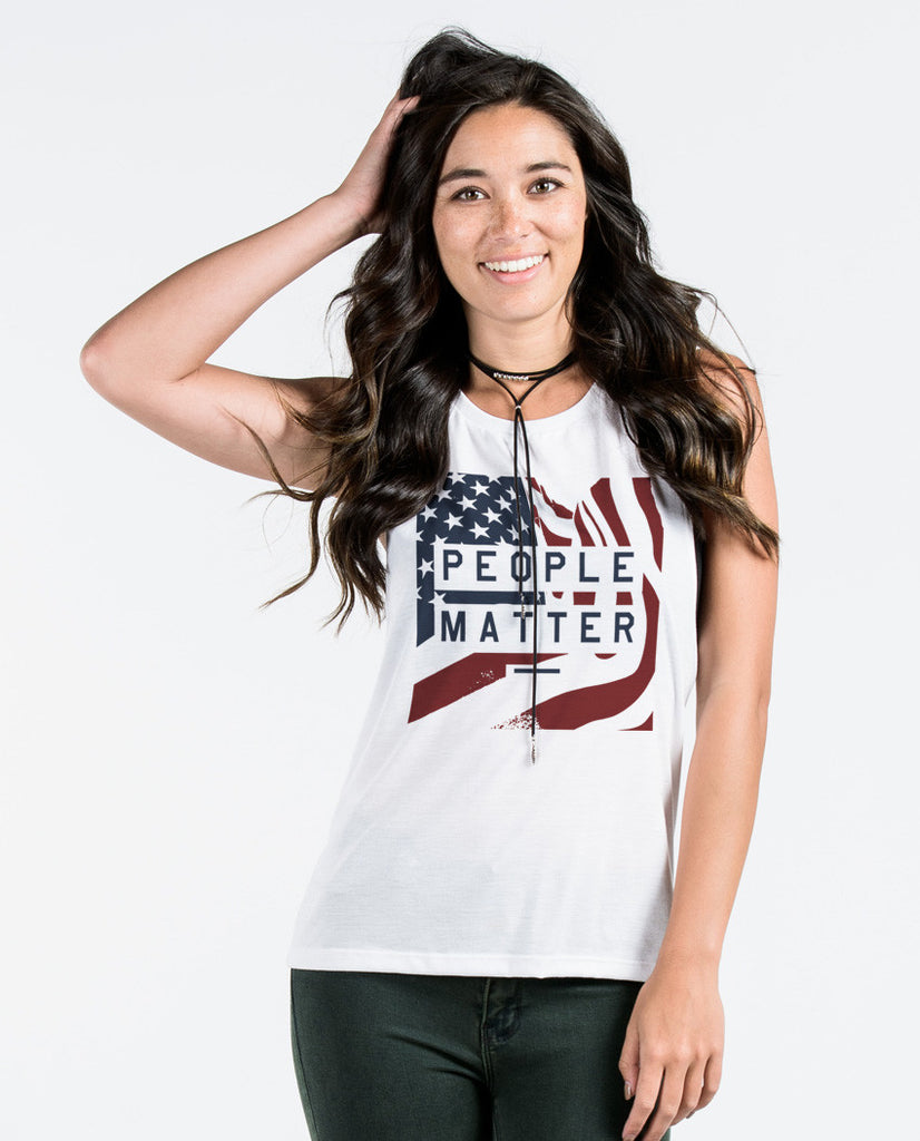 People Matter Flag Muscle Tank