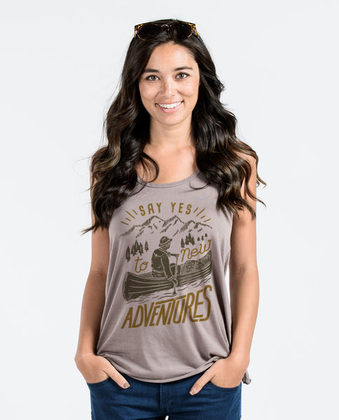 Say Yes To New Adventures Flowy Racerback Tank