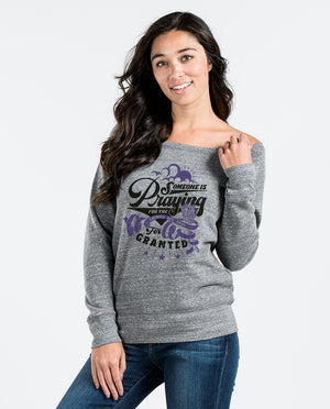 Someone Is Praying Slouchy Sweatshirt