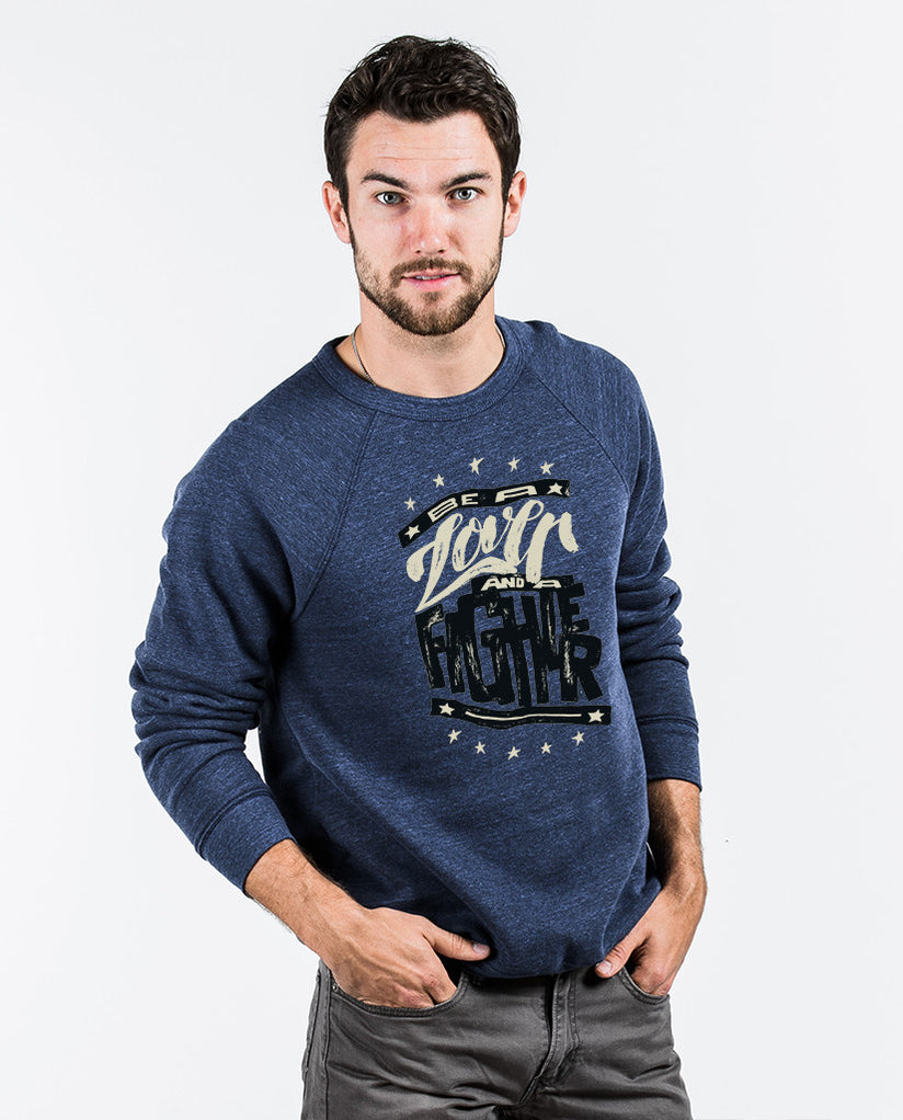 Lover and a Fighter Crew Neck Sweatshirt