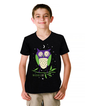 Owl You Need Is Love Youth Jersey Short Sleeve V Neck Tee