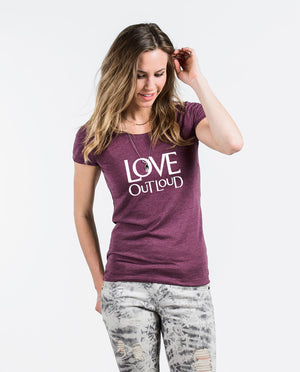 Love Out Loud Triblend Short Sleeve Tee