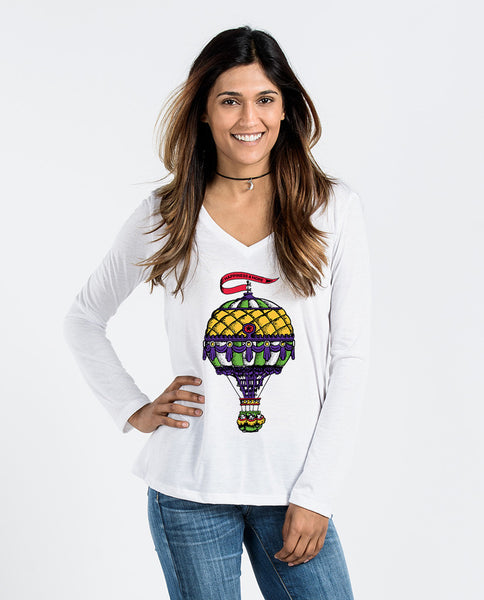 Happiness and Hope Flowy Long Sleeve V-Neck