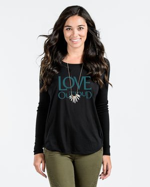 Love Out Loud Flowy Long Sleeve Tee