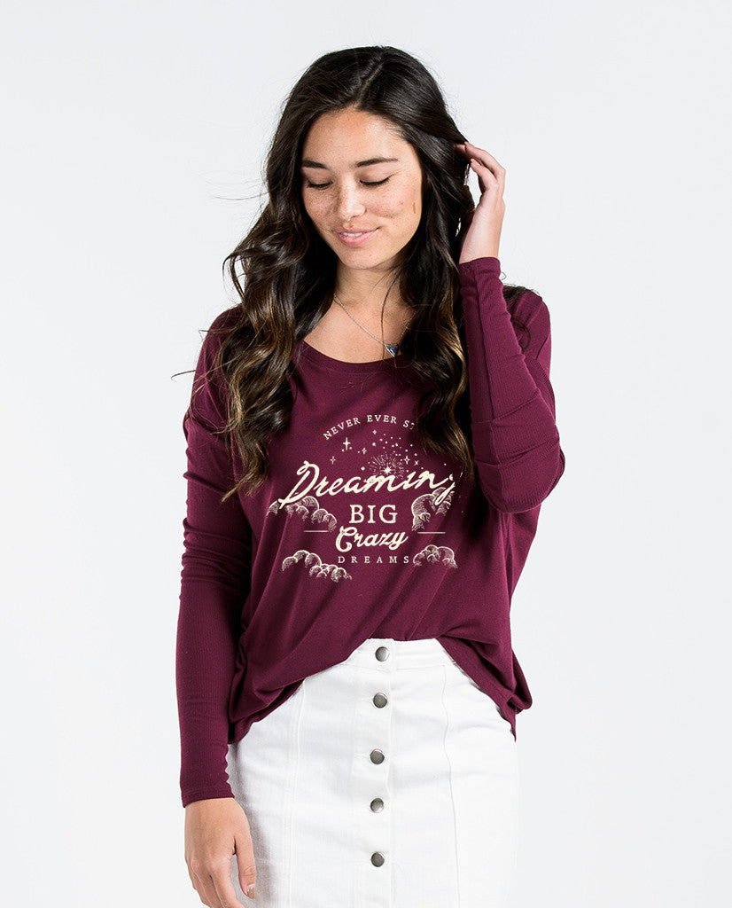Never Stop Dreaming Flowy Long Sleeve Tee