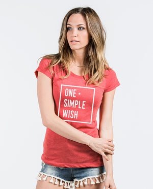 One Simple Wish Triblend Short Sleeve Tee