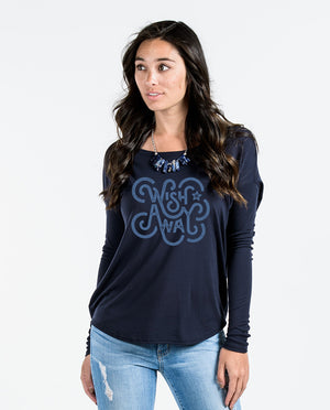 Wish Away Flowy Long Sleeve Tee