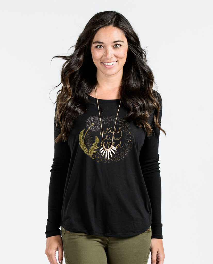 Wish Like Wild Flowy Long Sleeve Tee