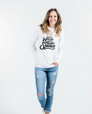 Music Speaks Unisex Long Sleeve Hoodie