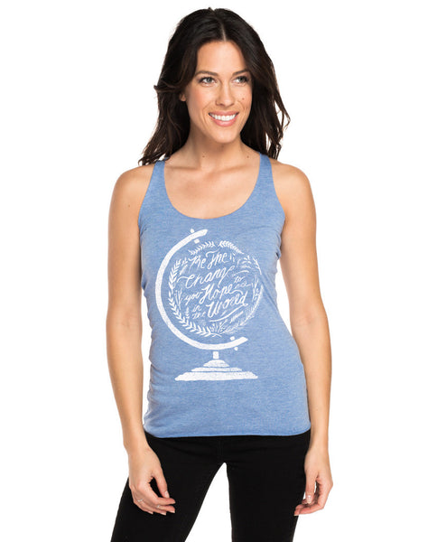 Be The Change Triblend Racerback Tank
