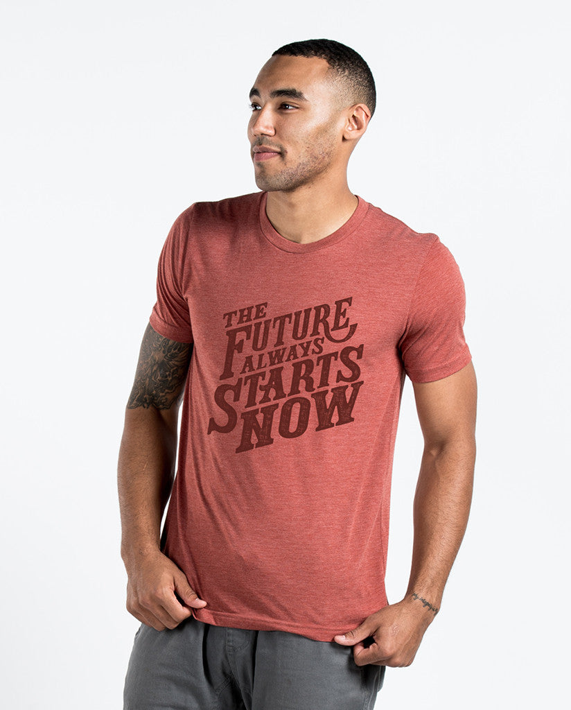 Future Always Starts Now Premium Fitted Tee