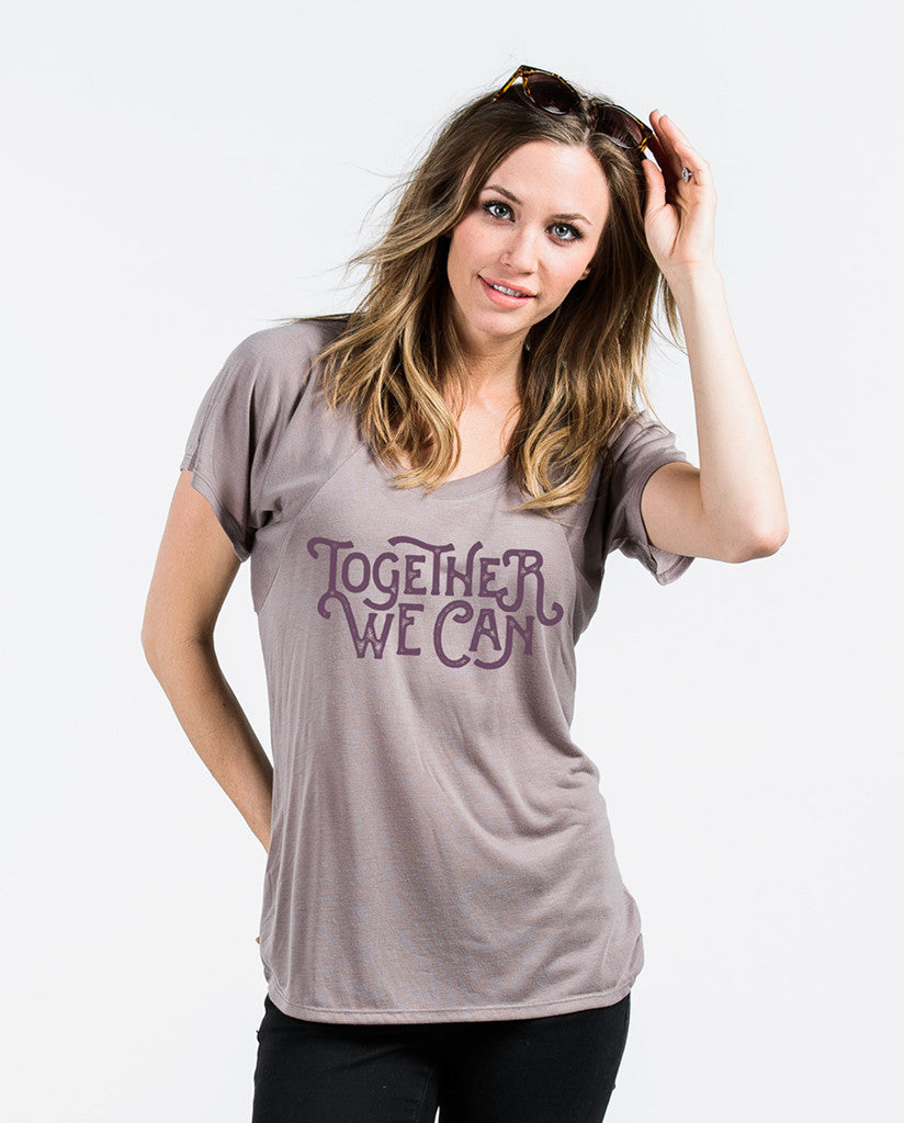 Together We Can Flowy Raglan