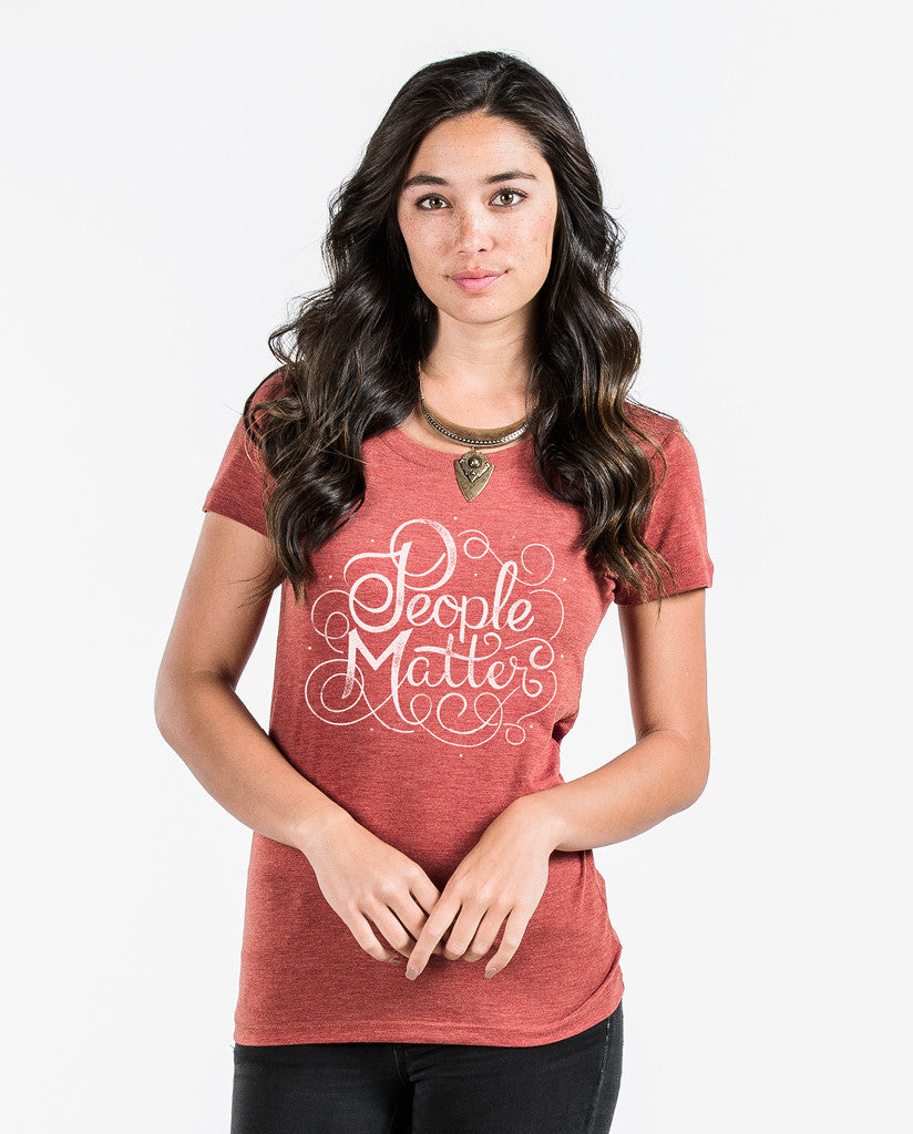 People Matter Script Short Sleeve Tee
