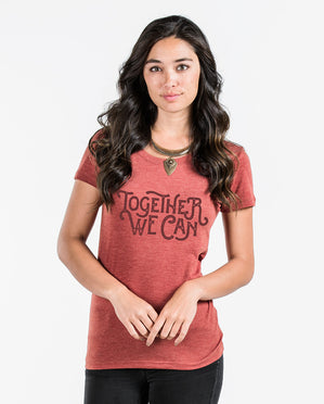 Together We Can Triblend Short Sleeve Tee