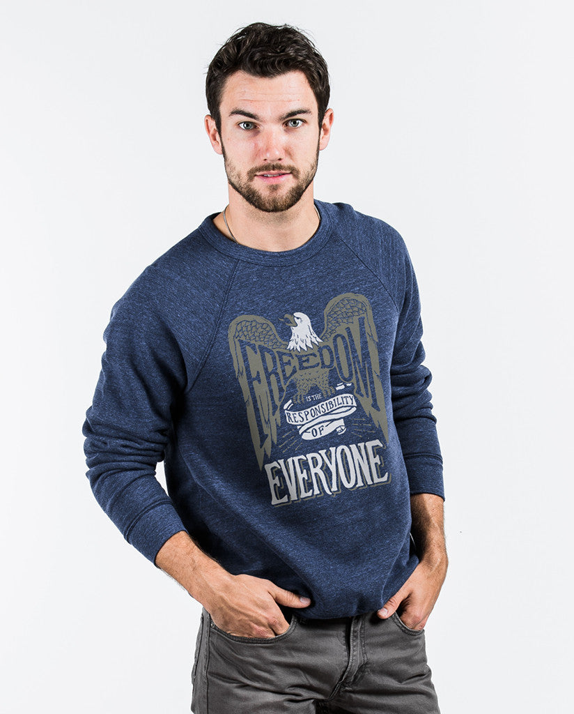 Freedom Is The Responsibility Of Everyone Crew Neck Sweatshirt