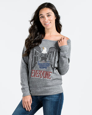 Freedom Is The Responsibility Of Everyone Slouchy Sweatshirt