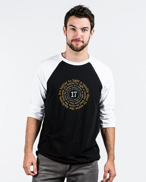Light A Candle Unisex Quarter Sleeve Baseball Tee