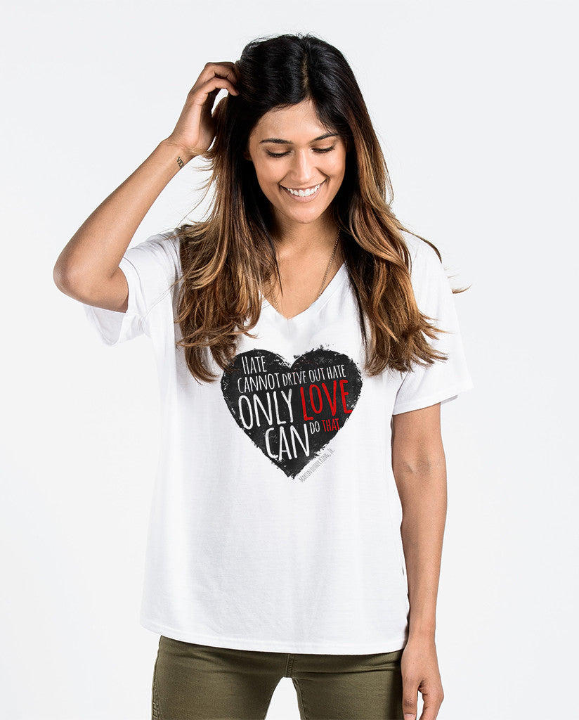 Love Not Hate Flowy V Neck