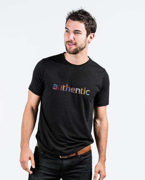 Authentic Black Premium Fitted Tee
