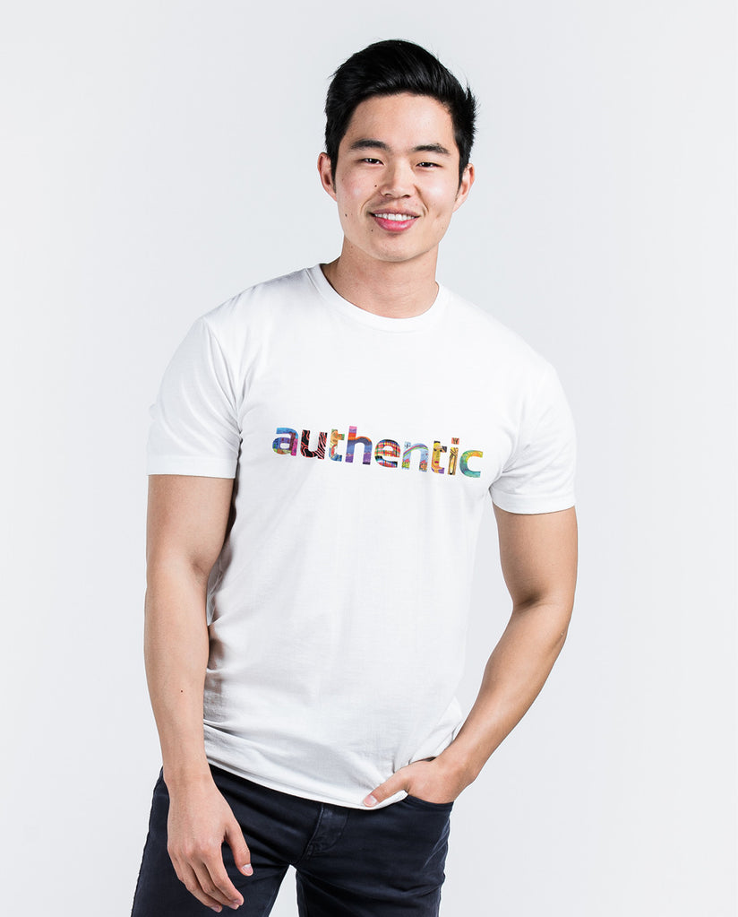 Authentic White Premium Fitted Tee