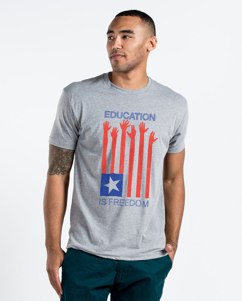 Education Is Freedom Unisex Triblend Short Sleeve Tee