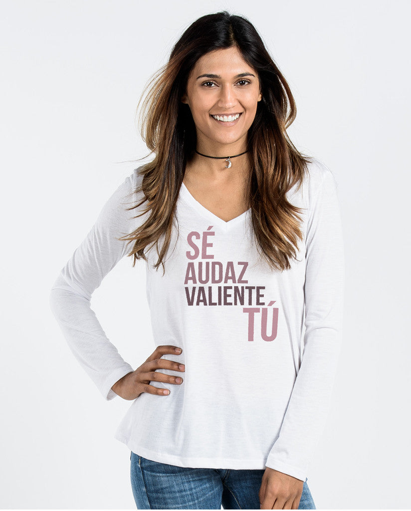 Se Audaz Flowy Long Sleeve V-Neck