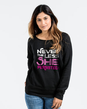 She Persisted Black Slouchy Sweatshirt